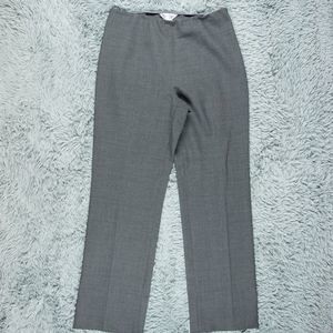 MaxMara Wool High Rise Dress Gray Pants 10